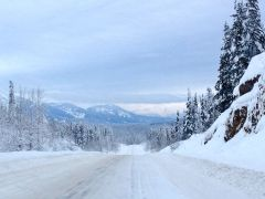 Hwy 37 - driving up to chilly northern BC